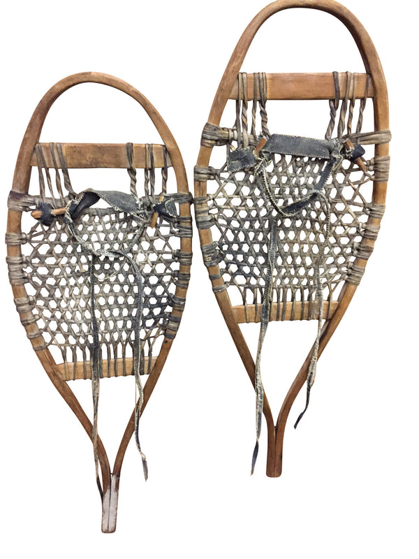 Antique Handmade Trapper Snowshoes