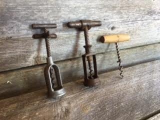 Set of 3 Vintage French Cork Screw Openers