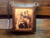 Faux Leather Pillow:  Sitting Bull and Buffalo Bill