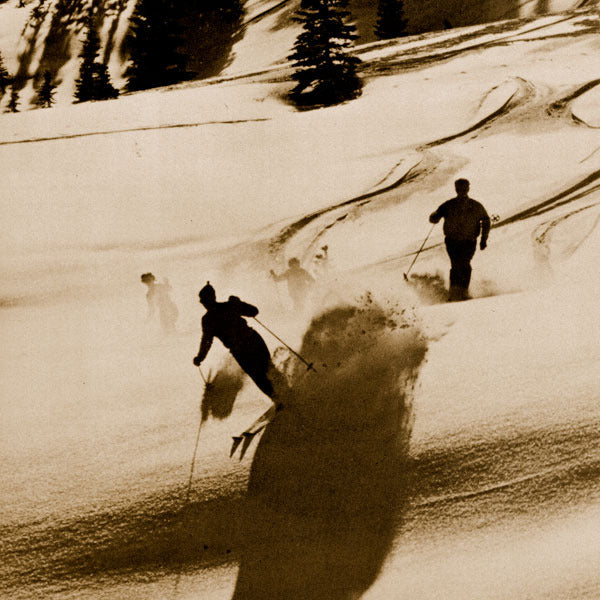 Vintage Ski Photo - Thrills of Powder