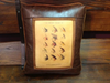 Faux Leather Pillow:  Trout Flies