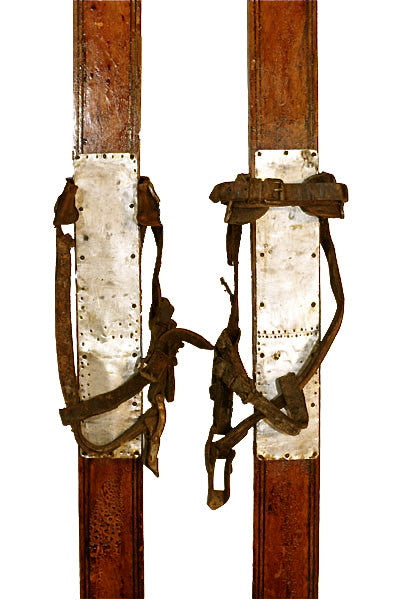 American Express Checkout >> Antique Wooden Skis - VintageWinter