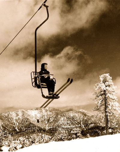 Vintage Ski Photo - Snow Valley's Mile Long Chair Lift