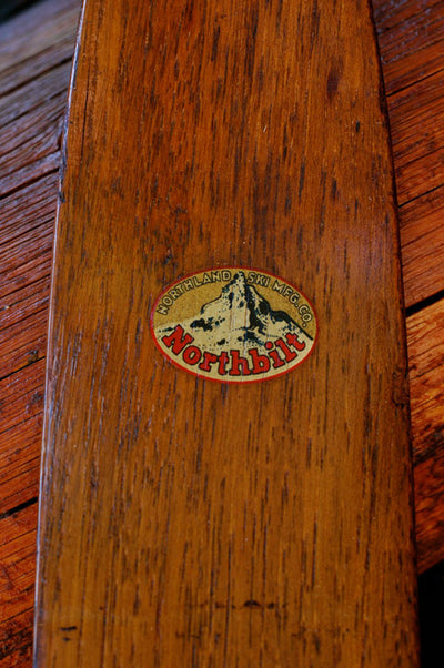 Antique Skis - Northland Northbilt Hickory Skis
