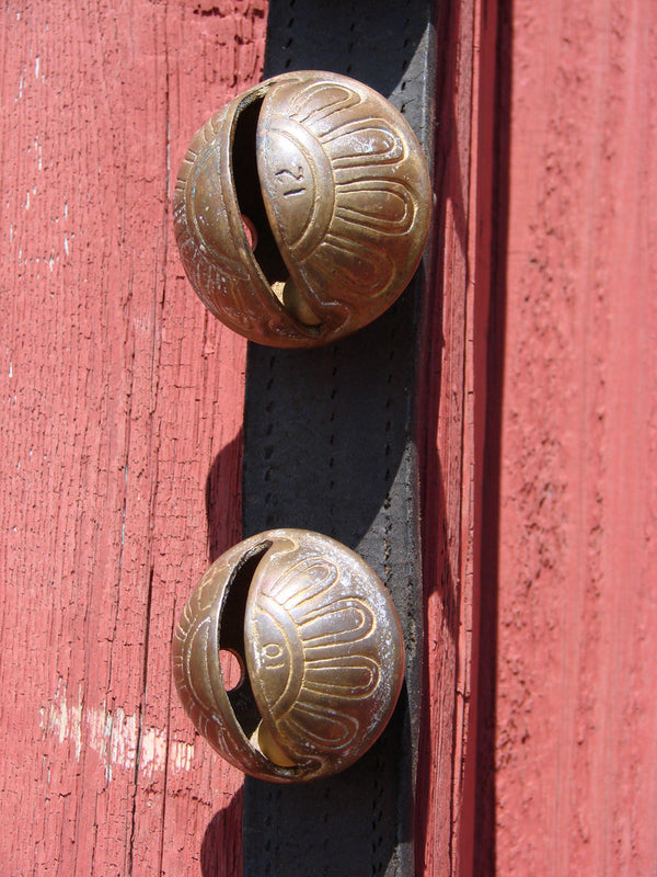 Vintage Sleigh Bells - Graduated Sizes - Brass