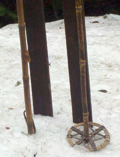 Antique Ward Marathon Jumping Skis