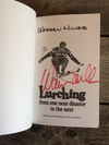 "Signed Copy of Warren Miller ""Lurching from one near disaster to the next"""