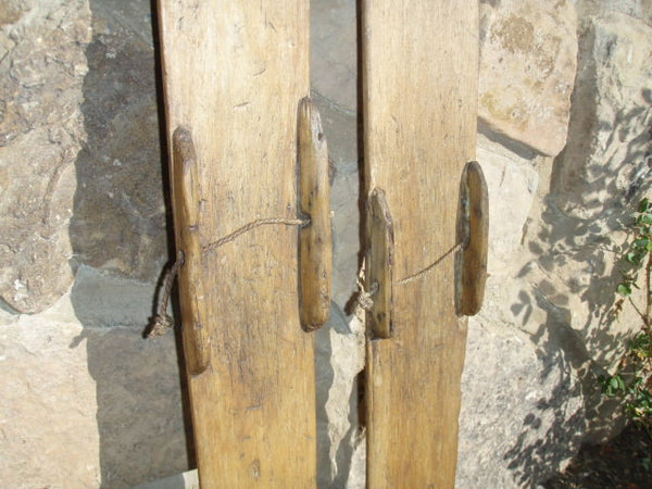 Vintage Skis - Primitive Wooden Skis