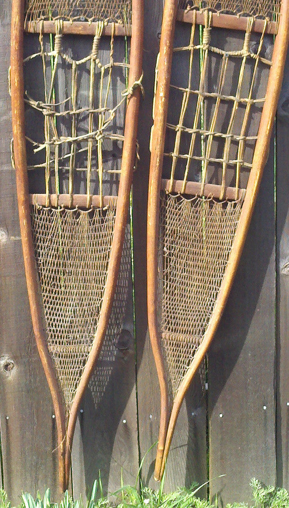 Antique Native American Indian Snowshoes - Athabaskan