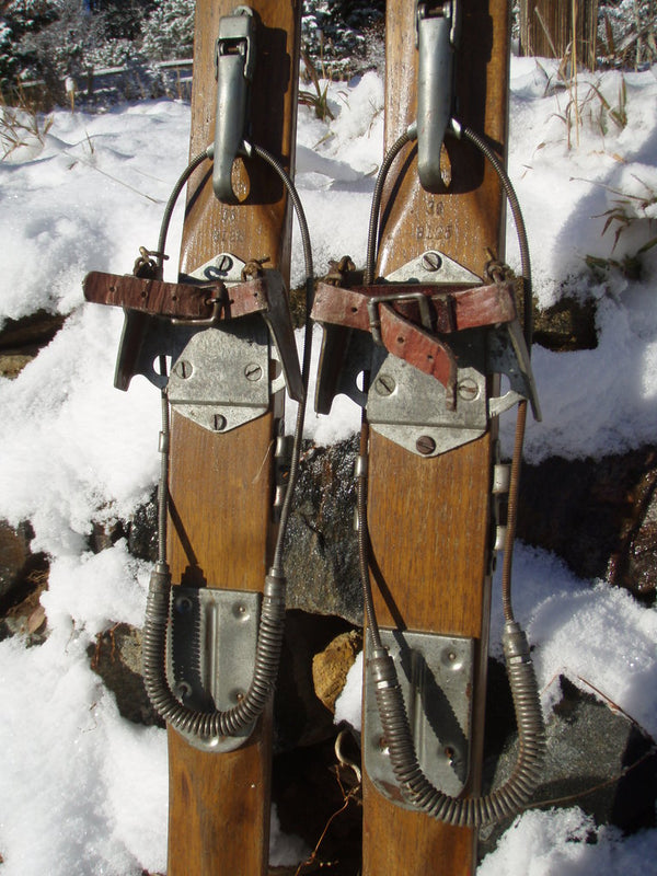 Antique Skis - Lund 1930s -1940s Vintage American Downhill Skis