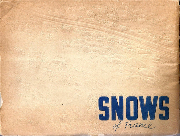 Vintage French Travel Advertising Ski Brochure