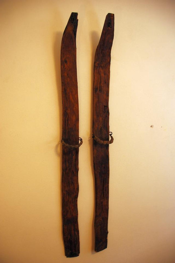 c. 1790's Childrens Wooden Skis