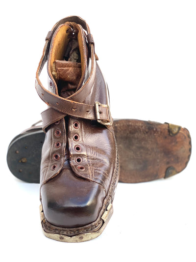 Vintage Samson Leather Ski Boots