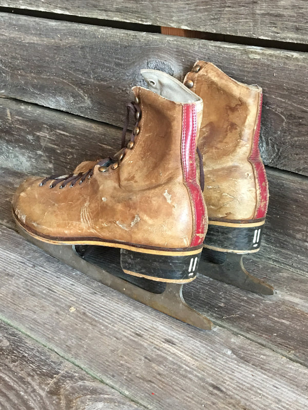 Vintage Leather Men's Figure Skates