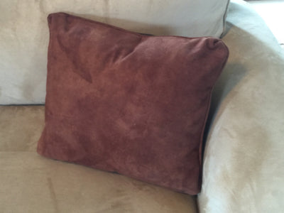 Faux Leather Pillow:  Vintage Ski Jumper Team