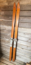 Harvard Cooperative Society wooden downhill skis