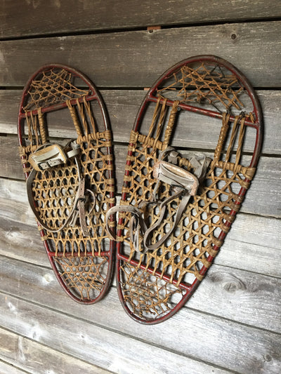 Vintage Bear Paw Snowshoes