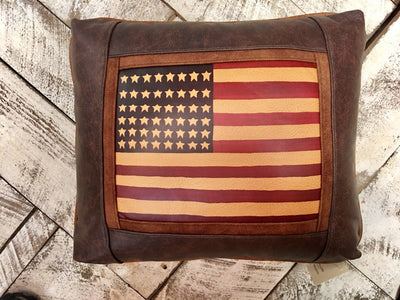 Custom Faux Leather Pillow:  any photo - printed on Chamois, and integrated as center panel for these handsome pillows