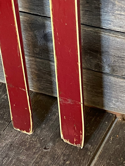 Vintage Swedish Downhill Skis - Red Strimlein