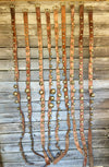 Sleigh Bells - 9 sets of brass bell strands on vintage brown leather in varying sizes