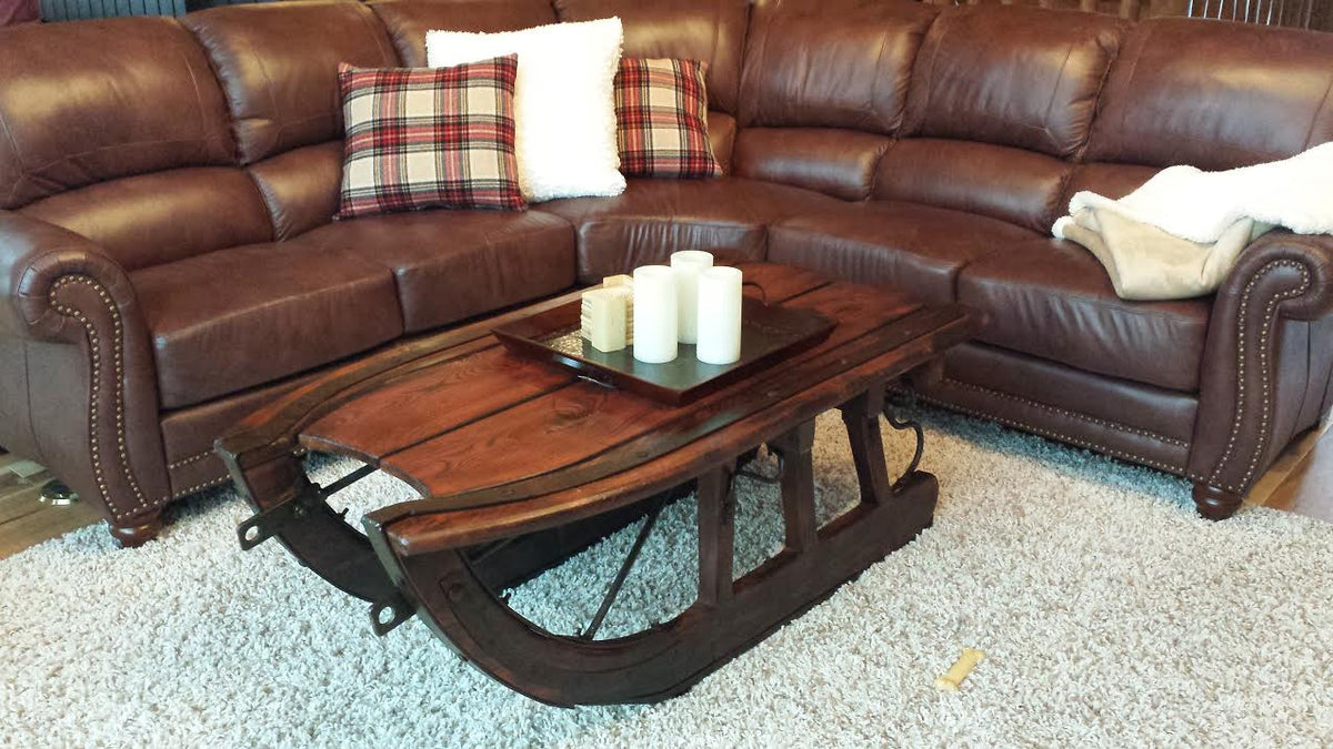 High Quality Logging Sled Coffee Table