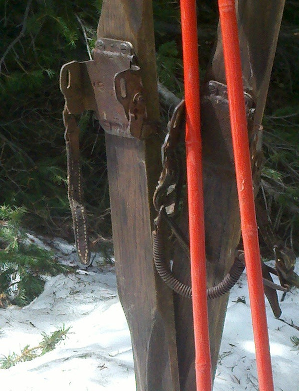Northland Ridgetop Skis and Bamboo Poles
