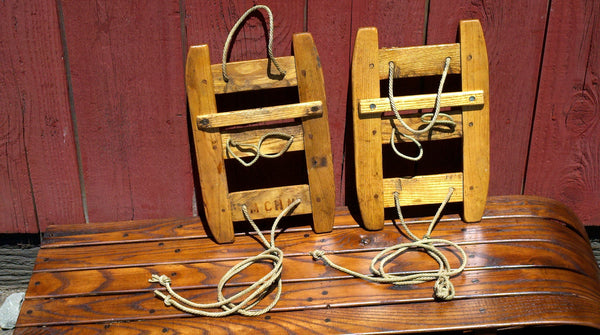 Vintage Swiss Military Issue Snowshoes