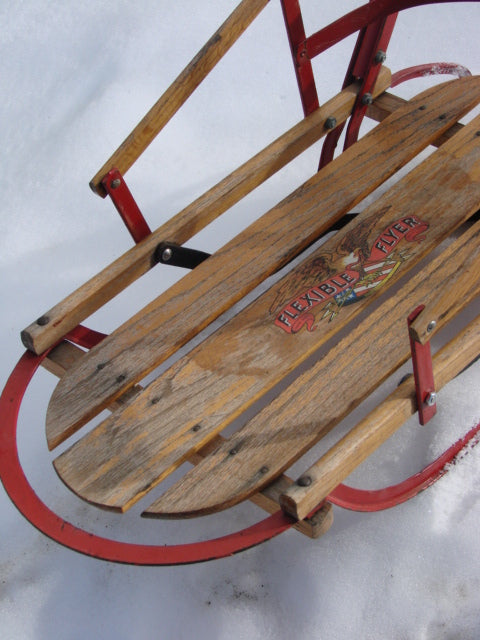 Vintage Flexible Flyer Push Sled Vintagewinter