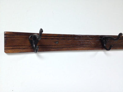 Ski Coat Hooks - Wall Hanging Coat Rack - 36""