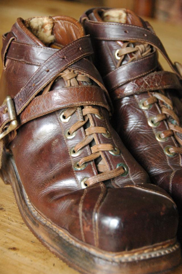 Vintage L.L.Bean Leather Ski Boots