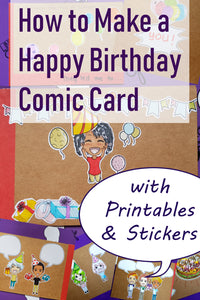 How to Make a Happy Birthday Comic Card (Booklet)
