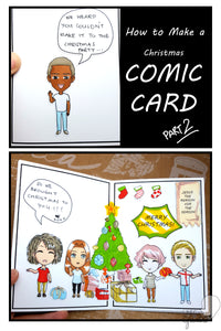 How to Make a Comic Card - A Christmas Crafts Idea