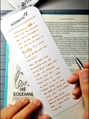 Insights written down behind the Journaling Page