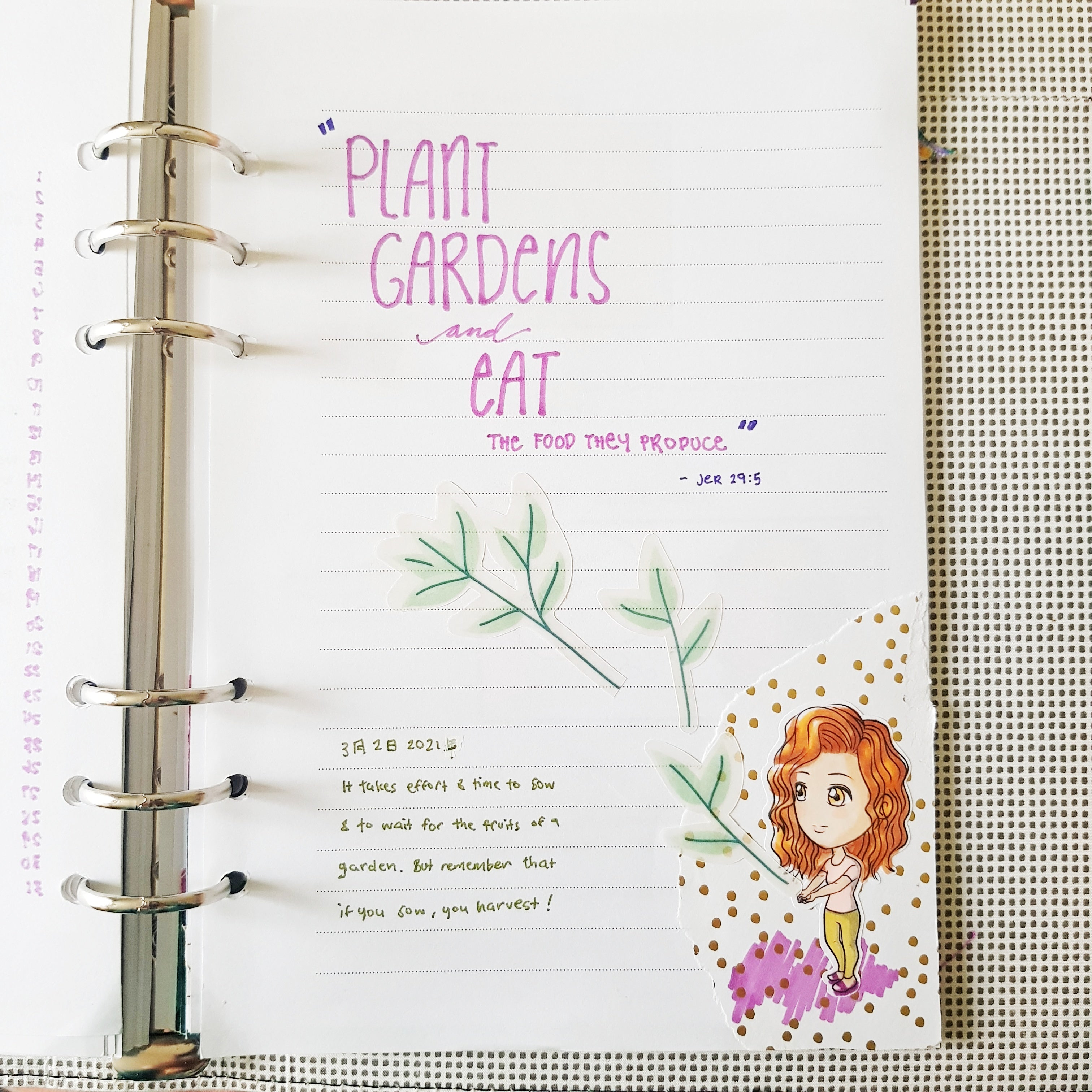 Plant gardens and eat the food they produce