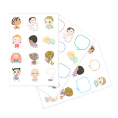 Baby sticker sheets - all and assorted