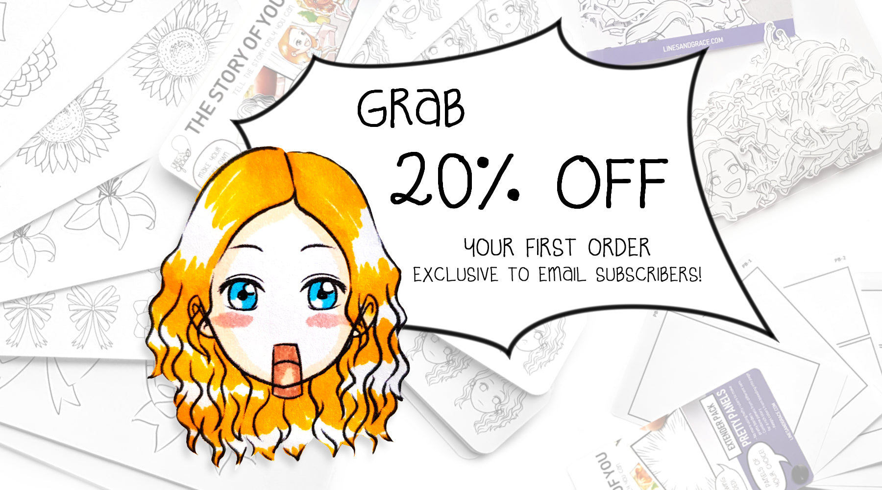 Join Lines and Grace Email Exclusives for a 20% discount on your first order