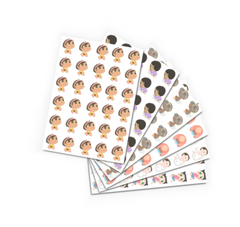 gender reveal sticker sheets - 30's 1 pack