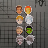 Face Mood Tracker Printable - Spiky Square