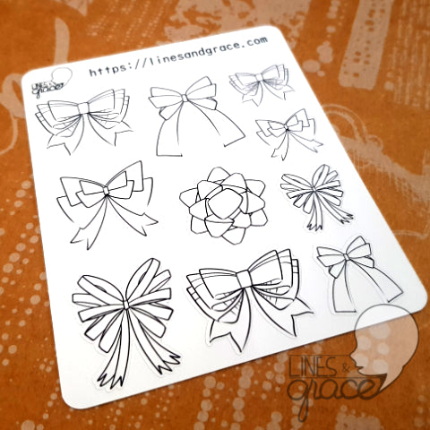 Ribbons - Coloring Deco Stickers