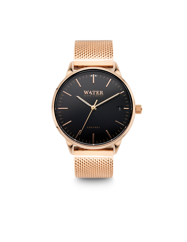 Channel Petite, Rose Gold/Black-Mesh
