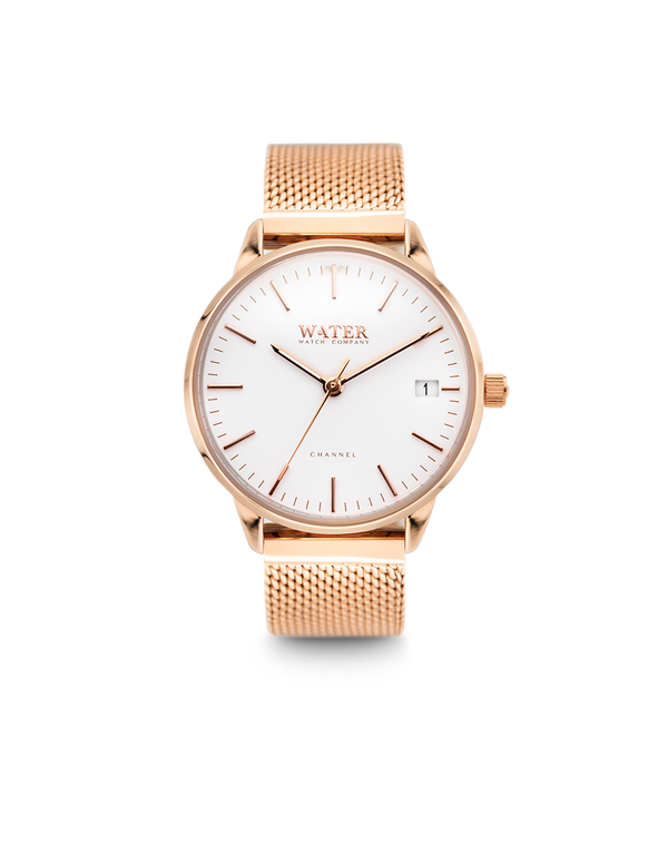 Channel Petite, Rose Gold/White-Mesh