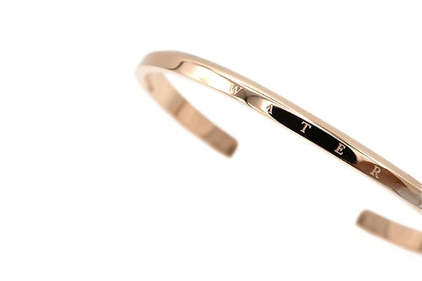 Water Cuff Bracelet in Rose Gold.