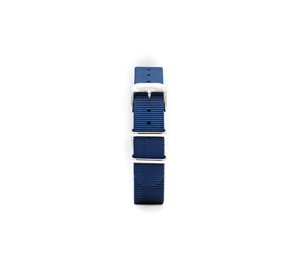 Nato Strap in WATER Blue/Silver