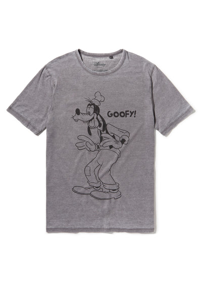 Recovered Disney Goofy Vintage Pose Mid Grey T-shirt