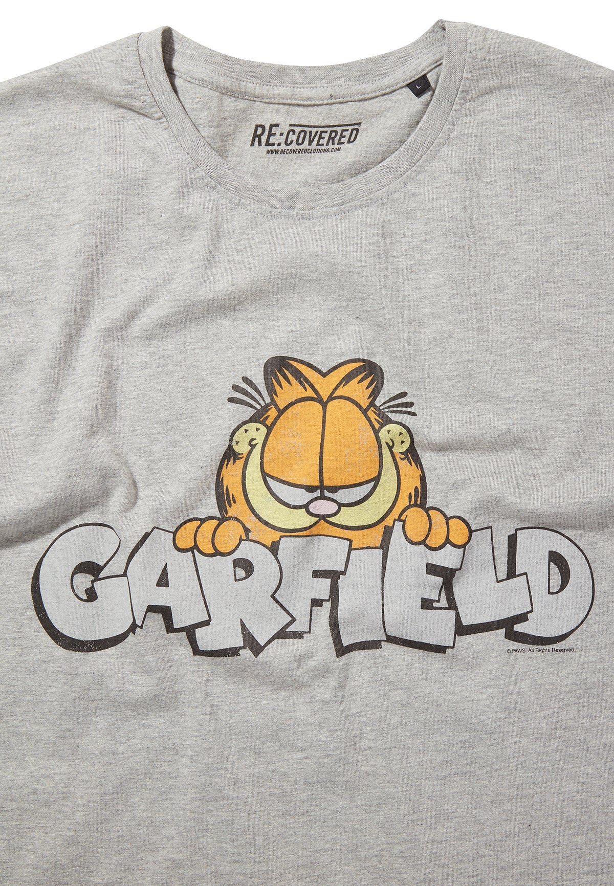 Recovered Garfield Vintage Peeking Logo Grey/Black Pyjama Set