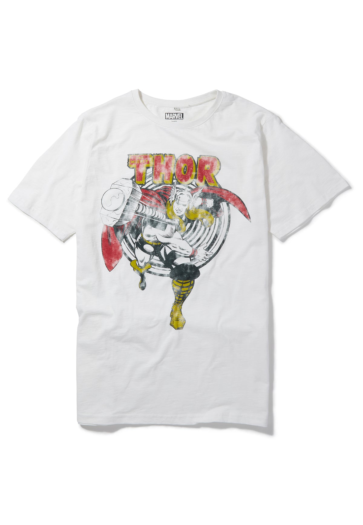 Recovered Marvel The Mighty Thor Retro Hammer Ecru Slub T-Shirt