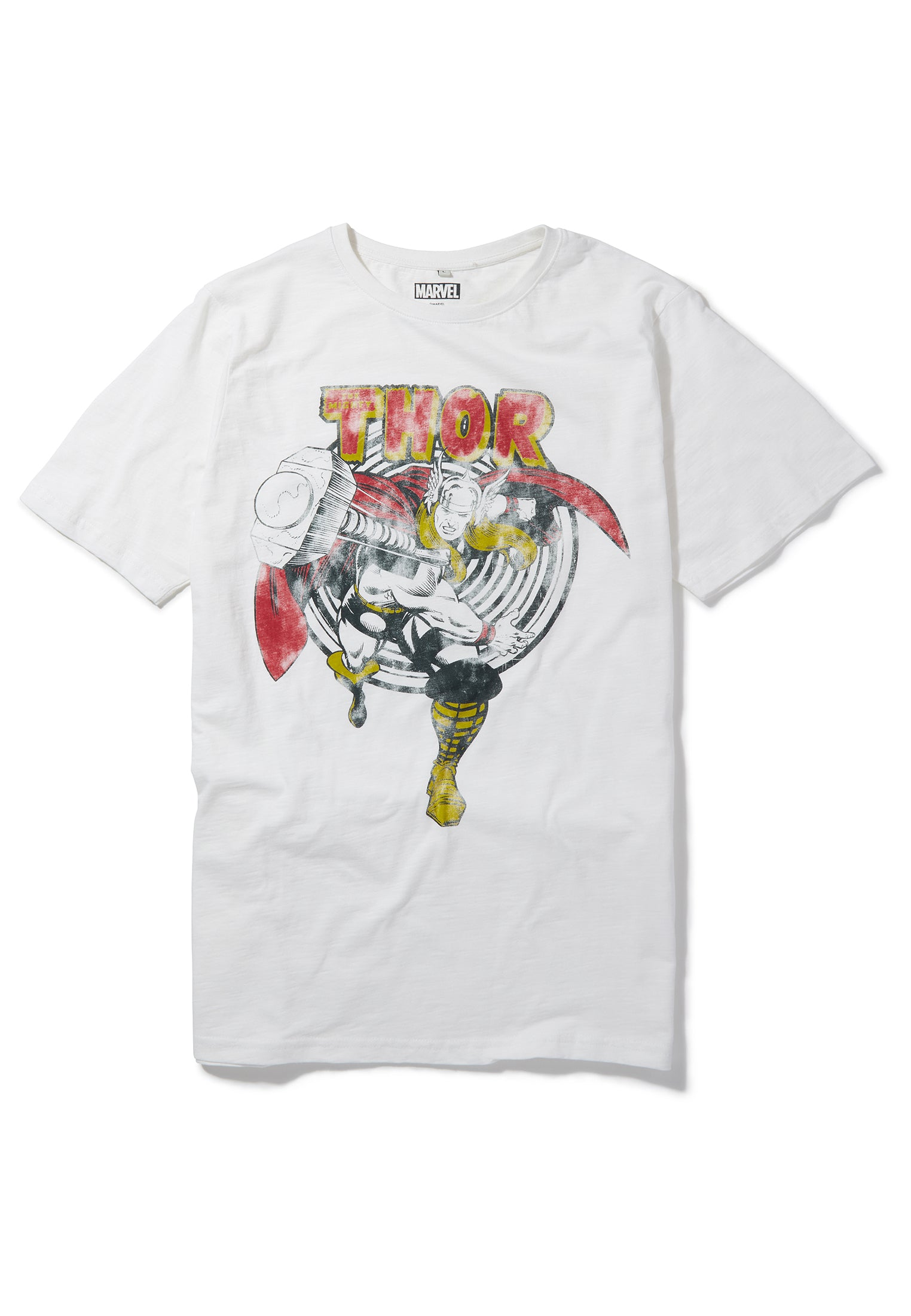 OFFICIAL MARVEL RETRO THE MIGHTY THOR HAMMER SYMBOL BLACK T-SHIRT BRAND NEW
