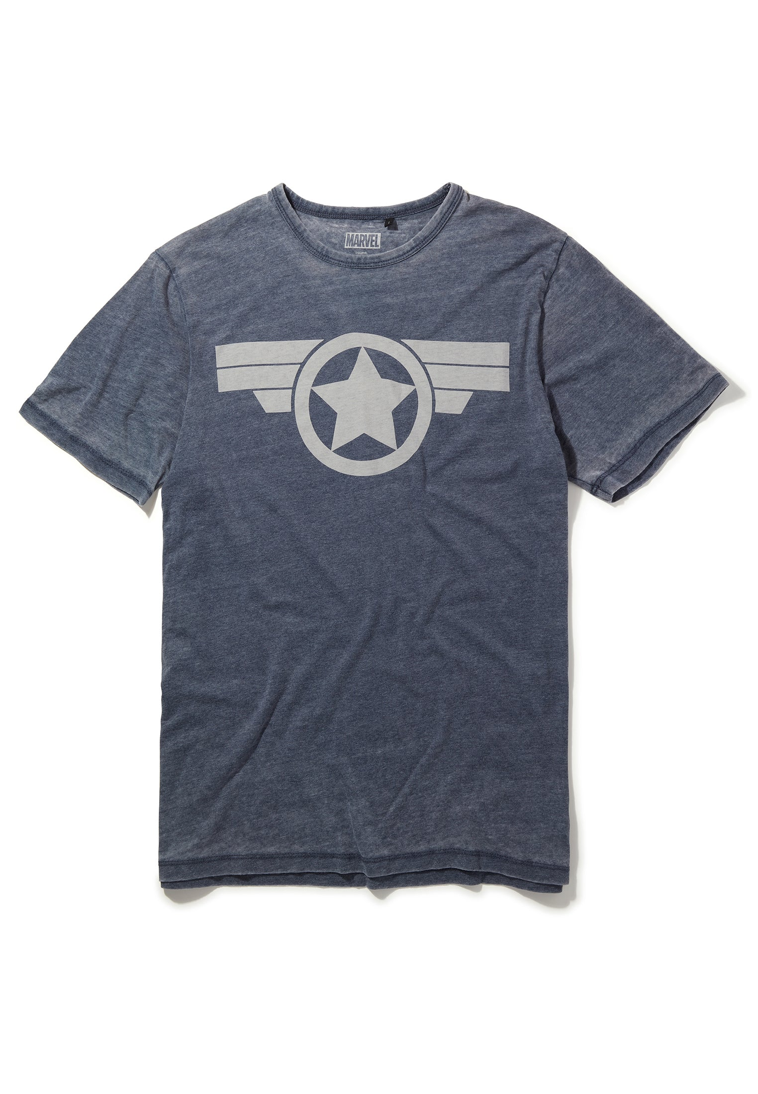 Recovered Marvel Captain America Icon Blue T-Shirt