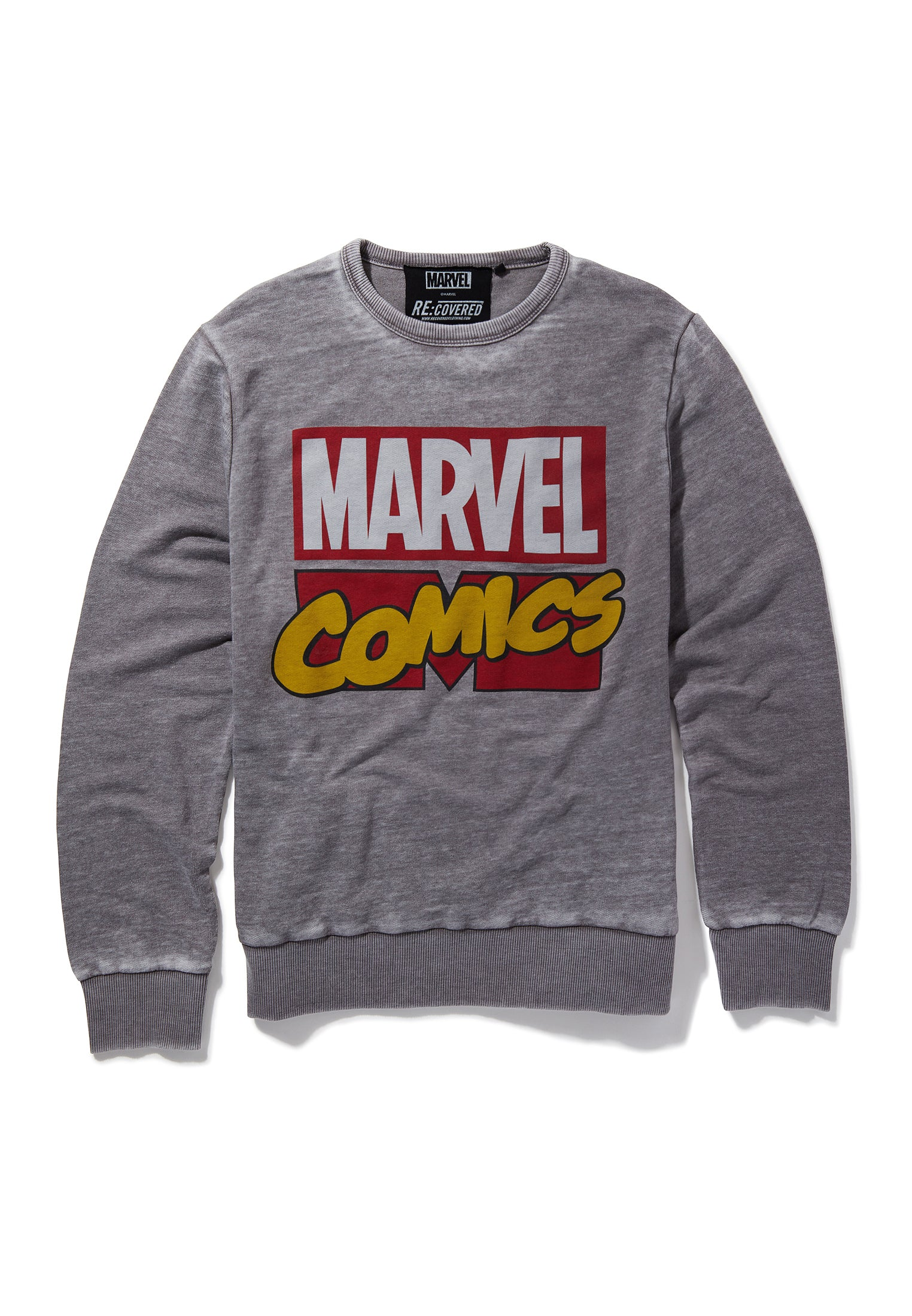Recovered Marvel Comics Classic Retro Logo Mid Grey Sweatshirt