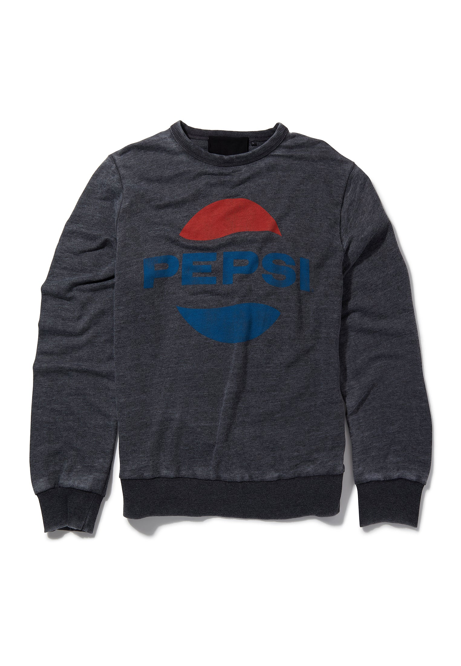 Recovered Pepsi Classic Oval Logo Charcoal Sweatshirt